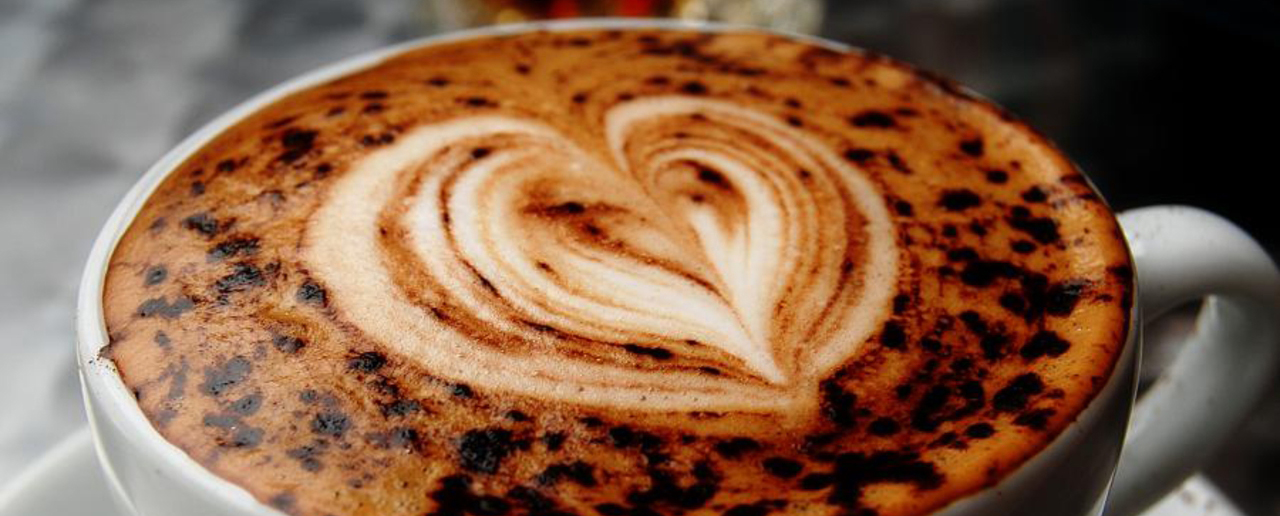 struck by coffee love